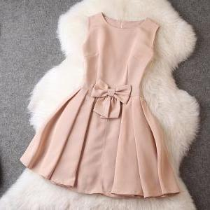 Fashion Bow Sleeveless Dress MG818CB