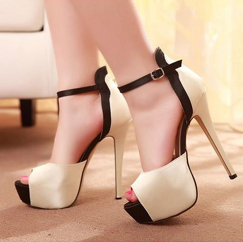 2d26e5541608 Classy Peep Toe Ankle Strap High Heel Fashion Sandals on Luulla